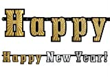 HAPPY NEW YEAR Banner Girlande Silvester