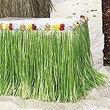 Tischumrandung für Beachparty mit bunten Blumen