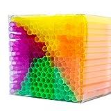 NEON STYLES - Strohhalme Neonfarben 225 Stück