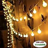 LED Lichterkette 10 Meter Flackerlicht Halloween