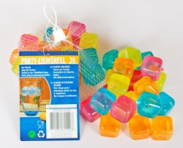 80 Party Eiswürfel aus Kunststoff mit Wasserfüllung wiederverwendbar 5 Farben Cocktail Würfel Form