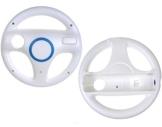2x Lenkrad Racing Wheel für Nintendo Wii Mario Kart weiss