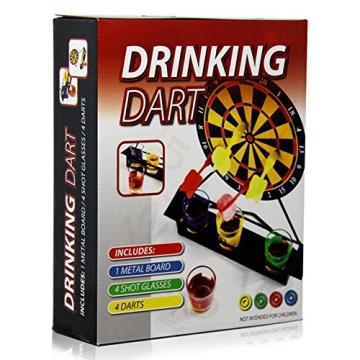 Magnetisches Trinkspiel Drinking Dart inkl. 4 Gläser und 4 Magent-Dartpfeile