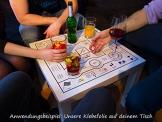 Trinkspieltisch - Klebefolie mit Spielzubehör