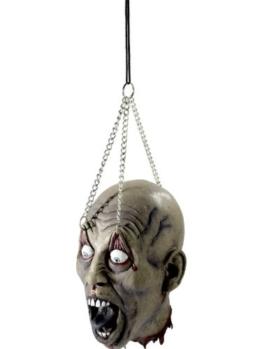 Abgeschlagener Kopf zum Aufhängen - Halloweenparty Deko