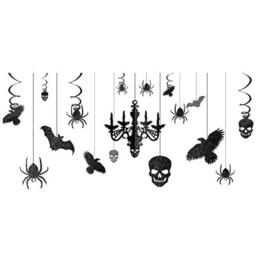 Halloween Deko zum Aufhängen - Fledermaus, Spinnen, Totenköpfe, uvm.