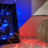 Lichterkette Batterie mit Farbwechsel und 40 LEDs Halloween