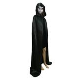 Satin Umhang mit Kapuze Unisex als Halloween Kostüm